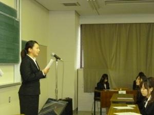 H24年度卒業研究発表会 委員長挨拶